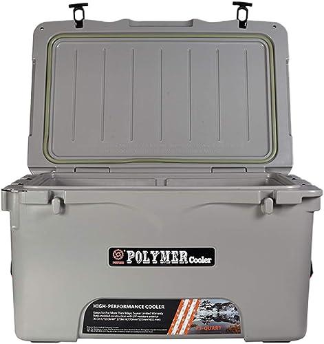 JCOCO 70L Portable Personal Deep Freeze Zipperless des températures moins élevées Cooler Hardbody - Lait de perforhommece, de la médecine, la cuisine ou la Boîte de refroidissement alimentaire en plei