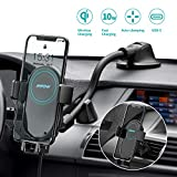 Mpow Wireless Car Charger, 2-in-1 Auto-Clamping Car Phone Mount 10W/7.5W Qi Fast Charging