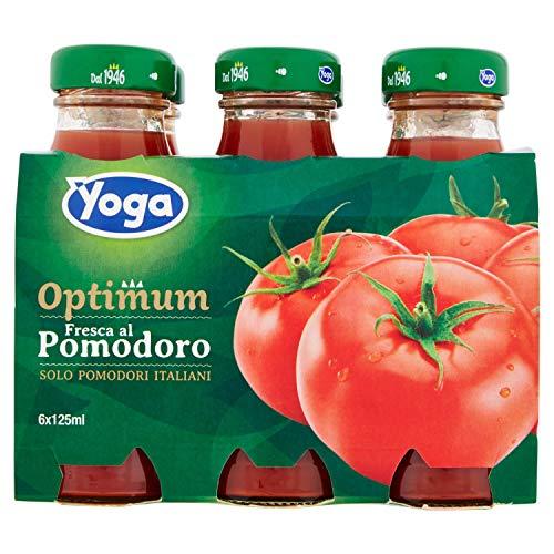 Yoga Succo di Pomodoro Italiano, Bottiglie in Vetro, 6 x 125ml