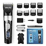 YOHOOLYO Hair Clippers for Men Hair Trimmer Cordless Beard Trimmer Hair Cutting Kit LED Display Rechargeable Waterproof Quiet…