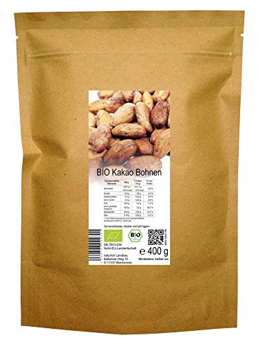 BIO Kakao Bohnen roh 400 g