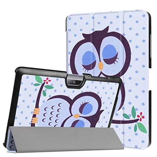 Schutzhülle für Acer Iconia Tab One 10 B3-A30 B3-A32 A3-A40 10.1 Zoll Hülle Bookstyle Cover Hülle (Schlafender Vogel)