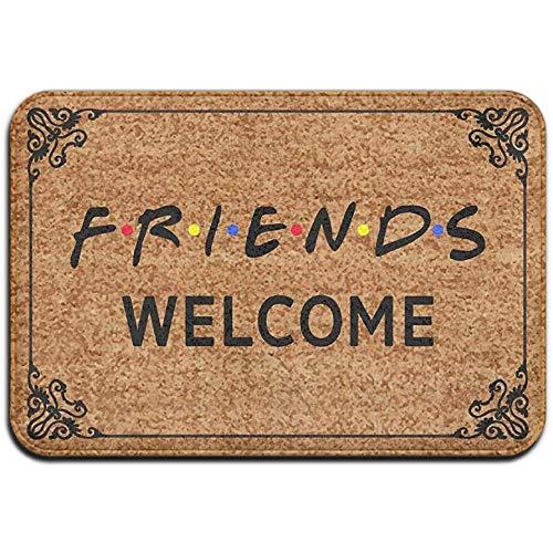 BK Creativity Felpudo,Friends Welcome Vintage - Alfombrilla Antideslizante para Alfombra, Antideslizante, para Alfombra, 40 * 60 Cm