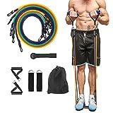 Perfeito para Yoga, treino ABS.Diferentes níveis de resistência para se adaptar ao nível progressivo de treinamento de força, exercitar os músculos das pernas dos braços Conjunto de faixas de resistência progressiva - Aumente a força, construa múscul...