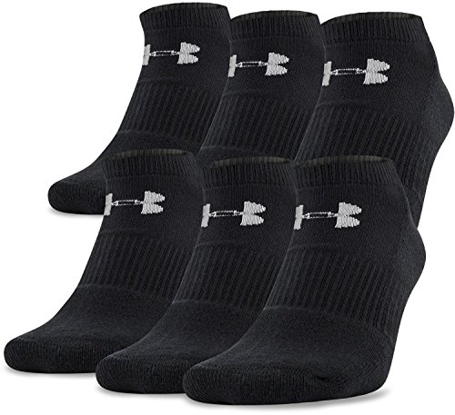 Under Armour UA Charged Cotton 2.0 NOSHOW Calcetines, Hombre, Negro (Black), LG