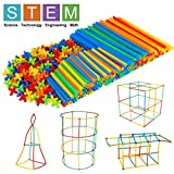 Winsenpro 408PCS Straw Constructor STEM Building Blocks Toys for Kids' Education,Colorful Plastic Engineering...