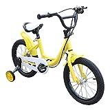 Kaibrite, bicicletta per bambini da 16 pollici, con ruota ausiliaria (giallo)