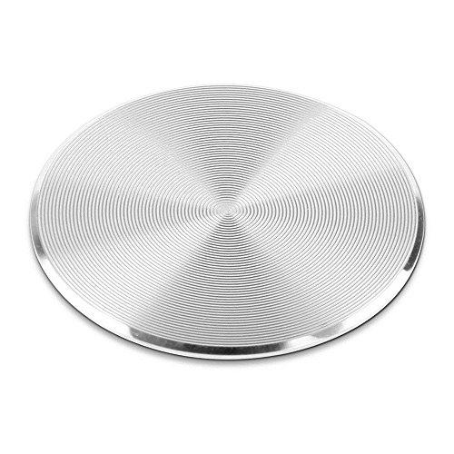 GOGOGO Support Voiture Magnétique, Nouveau Autocollant de Plaque d'acier Inoxydable de Modèle de CD pour Le Support de Téléphone de Voiture magnétique Argent
