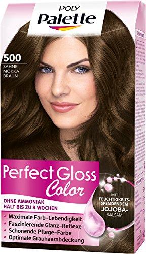 Poly Palette Perfect Gloss Color Tönung, 500 Sahne Mokka Braun, 3er Pack (3 x 115 ml)