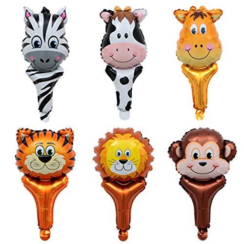Vientiane Tier Folienballon,6 Stück Party Tier Inflated Ballon für Kinder Geburtstag Party Dekoration (Walking Animal)