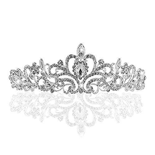 Unbekannt Hochzeit Braut Kristall Tiara Diadem Strass Krone Haarschmuck Kommunion Haarreif