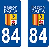 SAFIRMES Autocollant Plaque immatriculation pour Auto PACA département - Provence Alpes Côte d'Azur / 84 Vaucluse