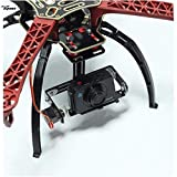Yoton Accessories FPV Single Axis Camera Gimbal with Servo Support Multi Camera Seat Mount for F450 RC FPV Multirotor Aircaft Quadcopter Drone DIY