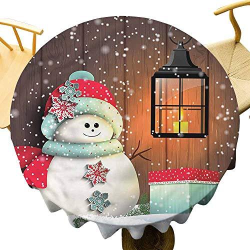 Mantel de Navidad Vicwone – Mantel redondo impreso de 155 pulgadas de Navidad no se desvanecerá con caja de regalo