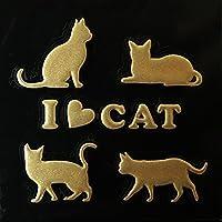 蒔絵シール CAT 「キャット B 金」