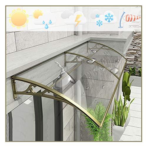 QIANDA Policarbonato Marquesina de Puertas, Ventanas Tejadillo Lluvia Nieve Proteccion Transparente Panel para Hogares Jardín Porche Delantero, Personalizable (Size : 200cm x 80cm)