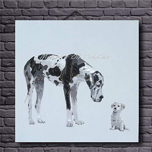 zxddzl Arte Pittura a Olio Dipinta a Mano Arte Astratta Animale Parete Decorazione della Stanza dei Bambini 6 60 * 60