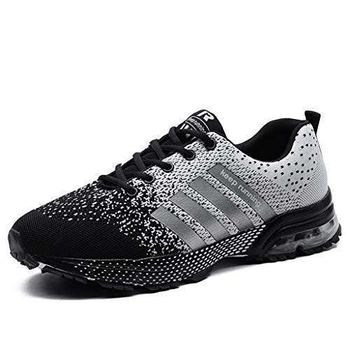 Zapatillas de Deporte Respirable para Correr Deportes Zapatos Running Hombre, Logobeing Calzado Casual de Camuflaje Calzado de Estudiante de Baja Ayuda Seguridad Deportivo Hombre (37,Gris #2)