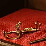 ExclusiveLane 'Reading Man' Handmade Brass Decorative Living Room Miniature Showpieces