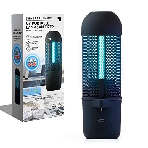 Sharper Image Travel UV Lamp, Portable and Compact Ultraviolet Sanitizing Light, Disinfect and Clean Phones Keyboard Kids Toys, No Residue or Surface Damage