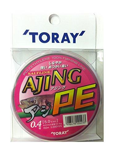 東レ(TORAY) ライン ソルトライン アジングPE 150m 0.4lb/5号 ピンク