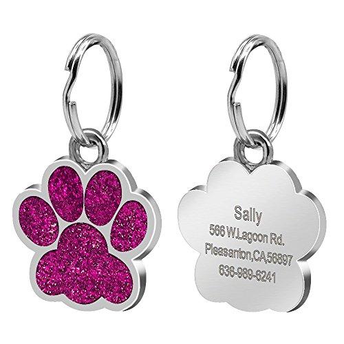 Etiqueta de perro Etiqueta de perro personalizada Personalizada Grabado Perrito Perrito Cat Etiquetas de collar Etiquetas de acero inoxidable Accesorios para mascotas para perros pequeños. Etiquetas d