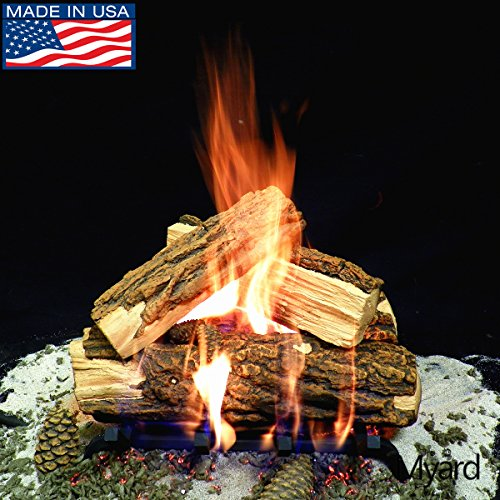 Review Of PayandPack Myard Deluxe 15 inches Country Split Fire Gas Logs (LOGS ONLY) for Natural Gas...