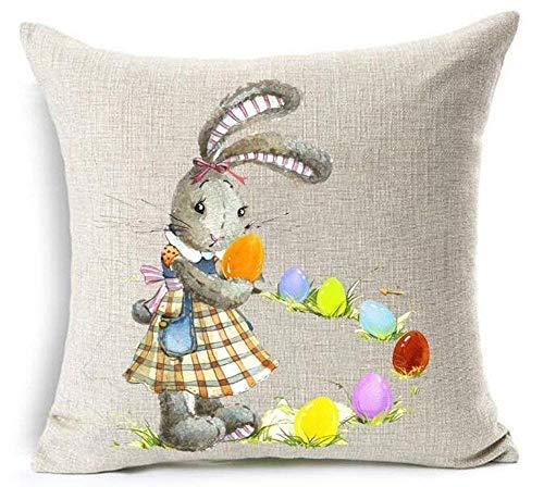 LUOEM Decoration Paques Printemps Easter Plaque Murale en Bois D/écorative Vintage Welcome Spring