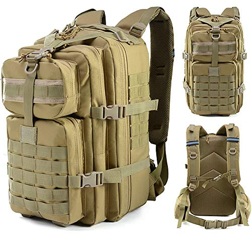 DKZK Military Assault Tactical Backpack Water Resistant Military Army Rucksack 55L Trekking Rucksack for Outdoor Camping Hiking Trekking