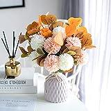 STB Mediterráneo Flores artificiales Flores Sala Muebles Anti-Mesa Flor Arreglo Decoración Flor Ramo Florero Luz Lujo Adornos Florales 3