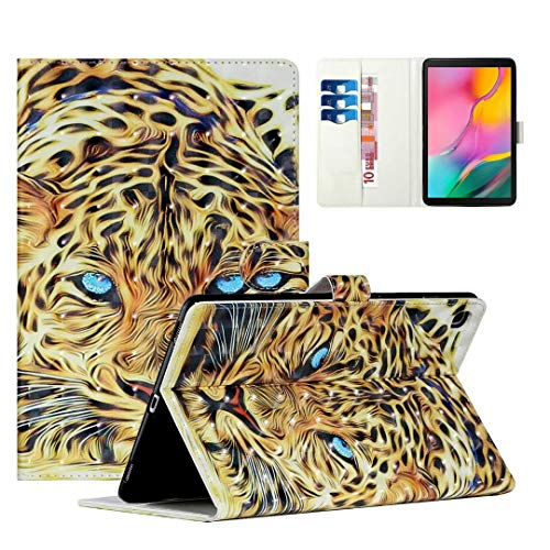 WVYMX Case for Galaxy Tab S5e 10.5 T720, Cartoon Printed Slim Stand Hard Back Shell Protective Smart Cover for Samsung Galaxy Tab S5e 10.5 SM-T720/SM-T725 Tiger