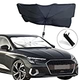 "EcoNour Car Windshield Sunshade | Foldable Reflector Umbrella Sunshade for Car, Blocks UV Rays Sun Visor Protector, Sunshade to Keep Your Vehicle Cool and Damage Free (Large 55.5"" x 31.5"")"