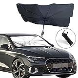 EcoNour Car Windshield Sunshade   Foldable Reflector Umbrella Sunshade for Car, Blocks UV Rays Sun Visor Protector, Sunshade to Keep Your Vehicle Cool and Damage Free (Large 55.5' x 31.5')