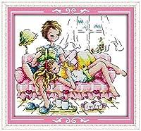 クロスステッチ刺繍キット 図柄印刷 初心者 ホームの装飾 刺繍糸 針 布 11CT Cross Stitch ホームの装飾 ロマンチックなパートナー 40X50CM