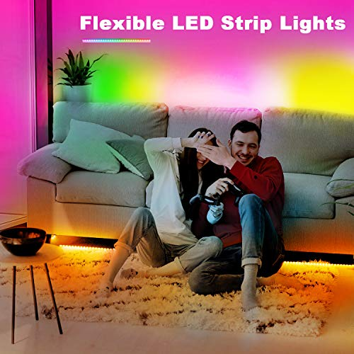 Phopollo Bluetooth Led Strip Lights, 32.8ft Flexible Led Lights with Phone Control and 24 Keys Remote for Bedroom, House and Holiday Decoration 9