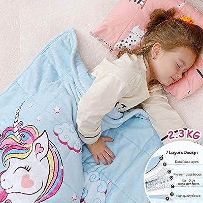 Anjee Kids Fleece Weighted Blanket