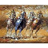 Peinture à l'huile par numéros pour adultes cheval chat peinture animale par numéro décoration de la maison moderne Artcraft A4 40x50 cm