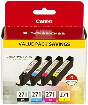 Canon CLI-271 - Black, Cyan, Magenta, Yellow - 4 Color Pack