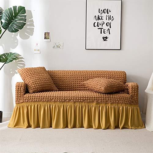 Color sólido elástico Sofá Cover for sala de estar impresa tela escocesa estiramiento seccional Fundas sofá cama cubierta en forma de L-1-4 plazas ( Color : 01 , Specification : 3 Seater170 220cm )