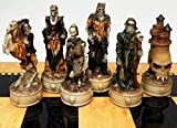 HPL Skeleton Slayer Fantasy Gothic Skull Chess Men Set - NO Board