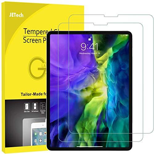 JETech 2 Stück Schutzfolie für iPad Pro 11 Zoll (2020 und 2018 Modell, Veröffentlichung Kante zu Kante Liquid Retina Display), Gehärtetem Glas Panzerglas Displayschutzfolie