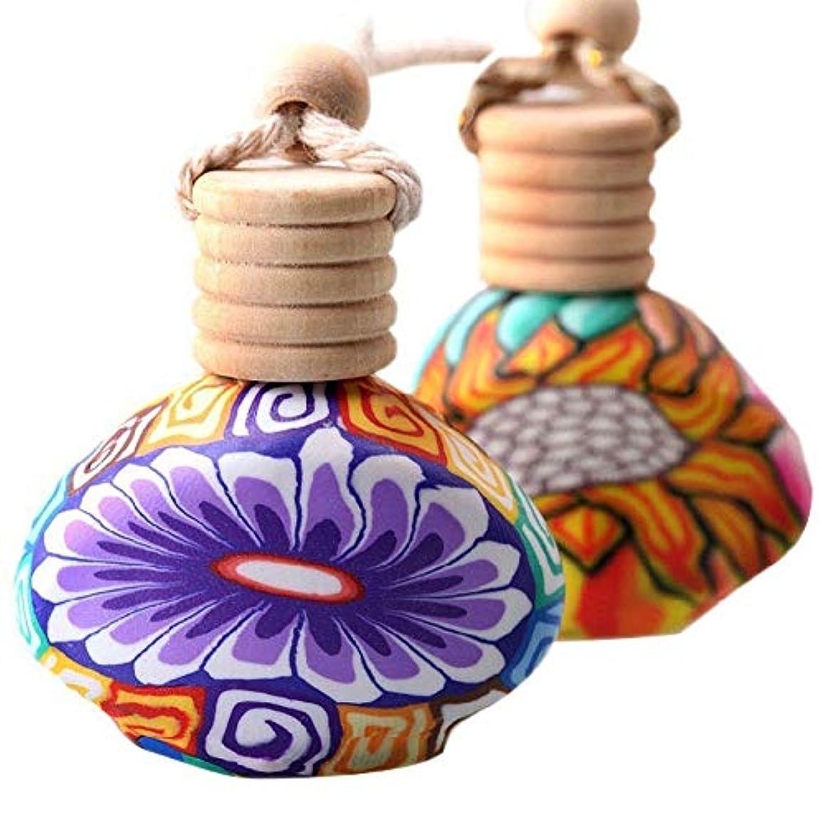 Polymer Clay Empty Air Freshener Perfume Fragrance Bottle Car Hanger Home Decor ruiycltd