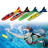 Diving Toys, 4pcs Swimming Pool Diving Toys Underwater Fun Mine Shape Diving Toys for Swimming Training