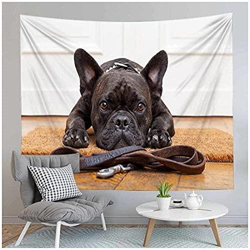 QJIAHQ Animal Perro patrón Impreso Yoga Mat Tapiz Colgante de Pared decoración del hogar Colcha Manta 80 * 60 Pulgadas