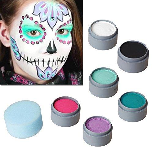 Halloween Schminke Set Sugar Skull schminken Theaterschminke
