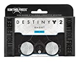 KontrolFreek Destiny 2: Ghost for PlayStation 4 (PS4) Controller | Performance Thumbsticks | 2 Mid-Rise | White