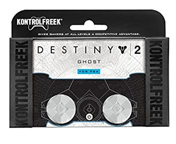 KontrolFreek Destiny 2  Ghost for PlayStation 4  PS4  Controller | Performance Thumbsticks | 2 Mid-Rise | White