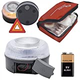 AUTO LABEL Luz Emergencia V16 Homologada DGT, Base Magnética, Señal V16 + Botiquín Primeros Auxilios