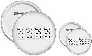 Kit de 7 badges en forme de cœur et de bêche avec motif de club de diamant