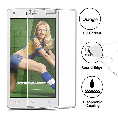 Qiaogle Premium Vidrio Templado Protector de Pantalla para Doogee X5 Max/ X5 Max Pro (5.0 Pulgadas) Cristal Templado Screen Protector [de 9H La dureza * 2.5D Ronda Edge * Anti-rasguños]